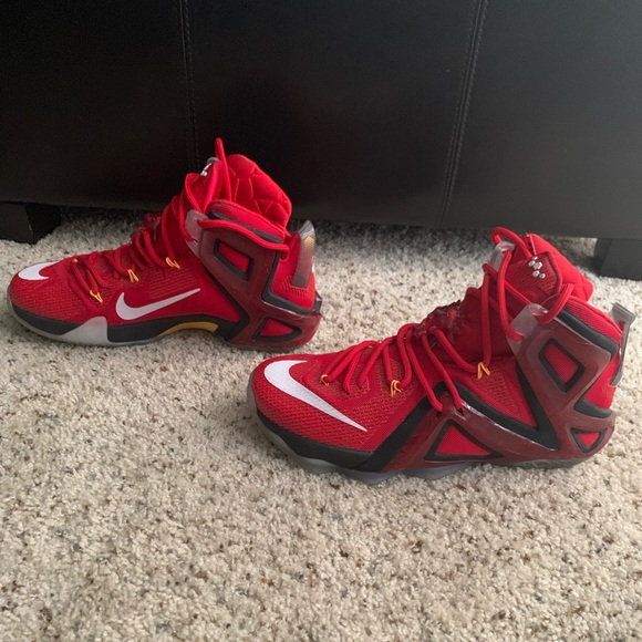huge discount 93470 2dd7a Nike LeBron 12 XII Elite Men's Size 8 Red (No Box)